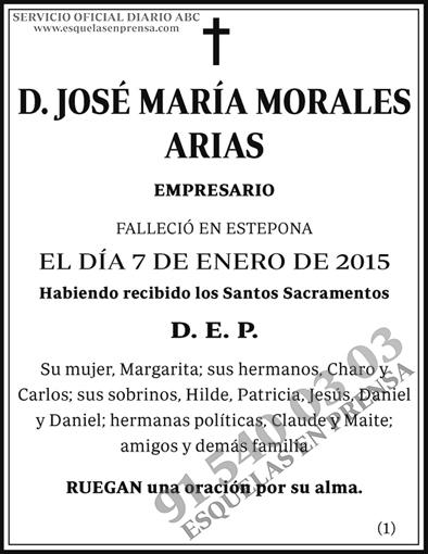 José María Morales Arias